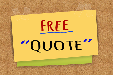 Free Quote on sticky note Stok Fotoğraf