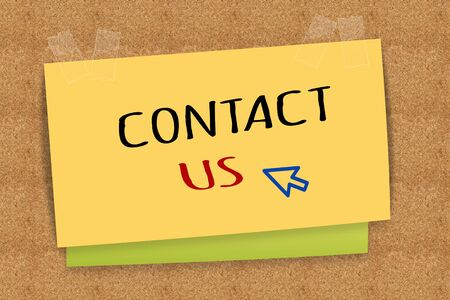 Contact us on sticky note