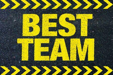 the best: Best team Stock Photo