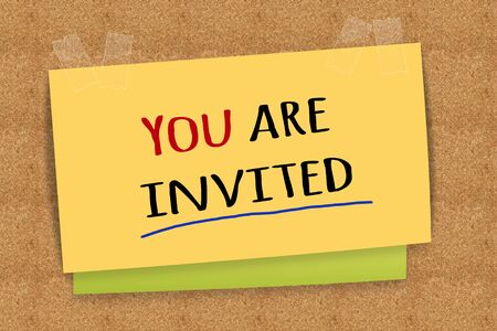 invited: You are invited Stock Photo