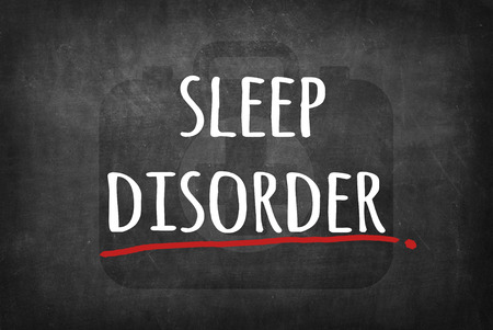 in somnolence: sleep disorder Stock Photo
