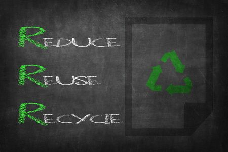 pollution free: Reduce Reuse Recycle Stock Photo
