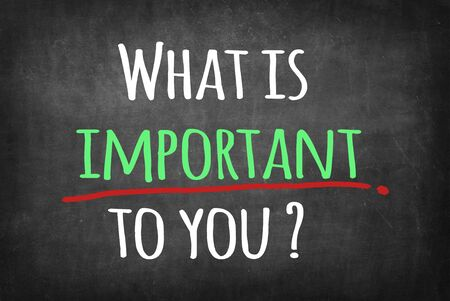 What is important to you ? Stockfoto
