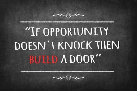 then: If opportunity doesnt knock then build a door on Blackboard