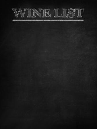 Wine list on blackboard Stock Photo