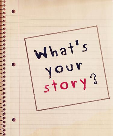 your: Whats your story ? Stock Photo