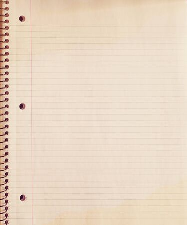 double page: Vintage grunge page old school notebook paper