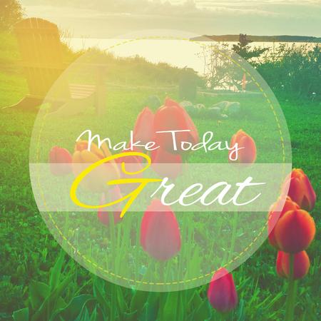 Make Today great 免版税图像