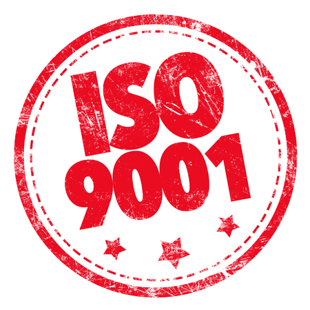 managerial: Grunge rubber stamp with text - ISO 9001