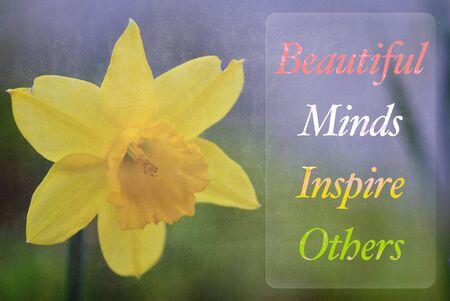 inspiracion: palabra Beautiful Minds inspirar a otros Foto de archivo