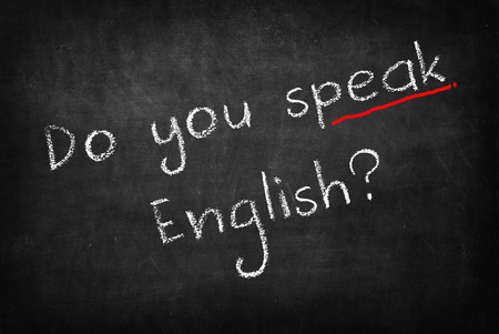 Do you speak English? on Blackboard Standard-Bild