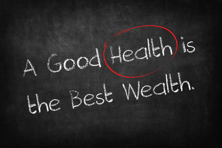 good health: A good health is the best wealth words on Blackboard