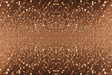 black and copper glitter bokeh texture abstract background