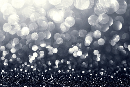 white silver glitter bokeh texture abstract background
