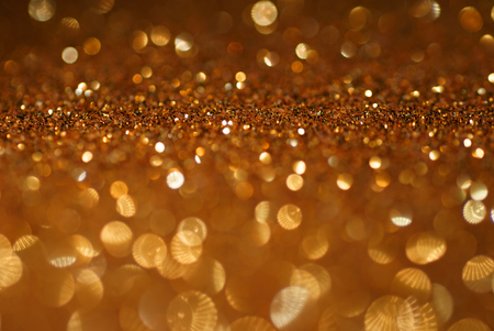 gold copper glitter bokeh texture abstract background Standard-Bild