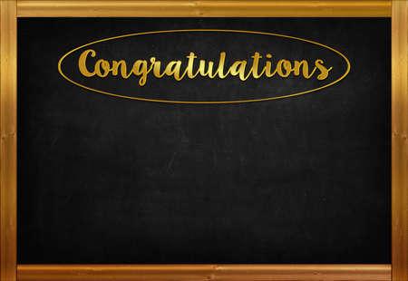 Congratulations word on blackboard