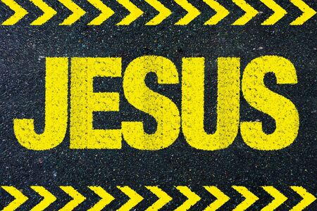 jesus word: JESUS word on road