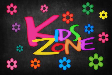 KIDS ZONE woord over Blackboard