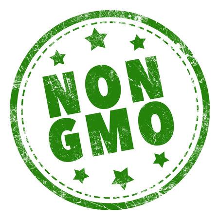 non: NON GMO word green stamp text on white background
