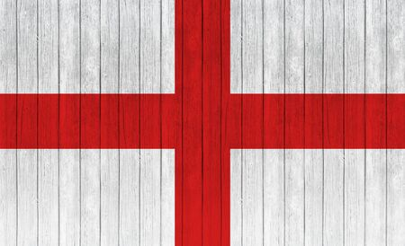 georges: original and simple Republic of The England flag on wood texture background Stock Photo