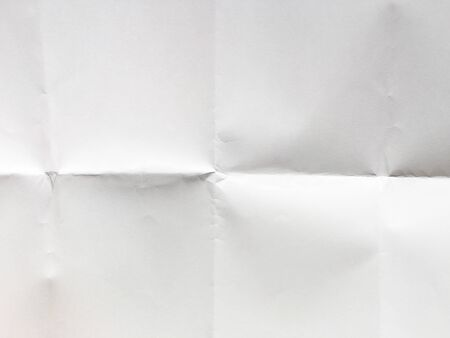 white folded paper texture background Banco de Imagens