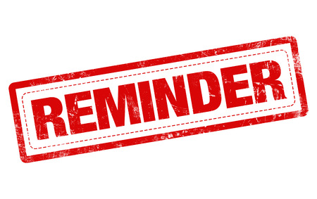 REMINDER word red stamp text on white background Stock Photo