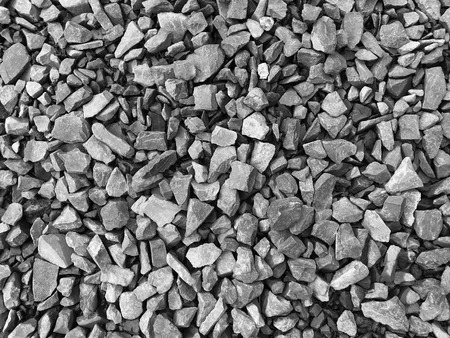 texture of tiny stones in black and white