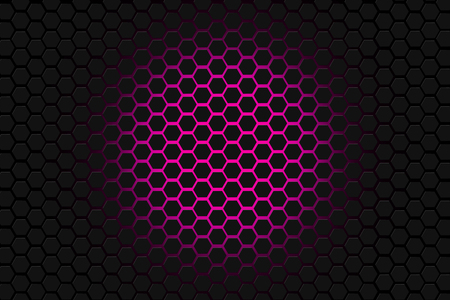 pink and black: pink and black hexagon background