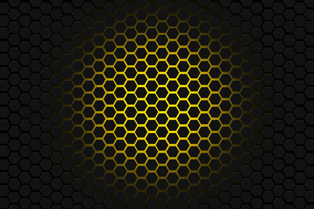 yellow and black hexagon background