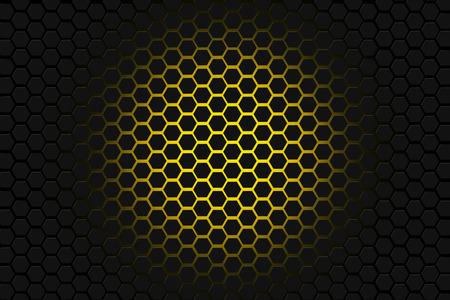yellow and black hexagon background Фото со стока - 55495556