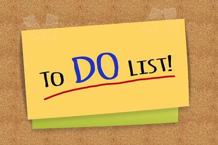 스티커 메모에 목록 단어를하려면 스톡 콘텐츠