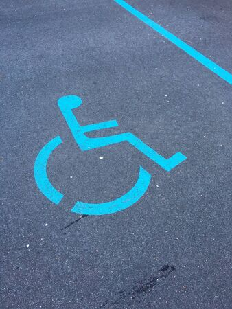 wheel chair: wheel chair sign parking spot