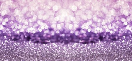 purple white glitter bokeh texture abstract background, banner