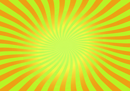 green swirl: green and orange abstract spiral, swirl, twirl, starburst background