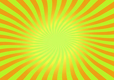 green and orange abstract spiral, swirl, twirl, starburst background