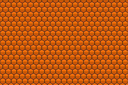 abstract orange honeycomb pattern background