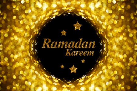 Ramadan Kareem gouden stijl