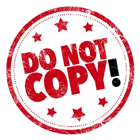 Grunge rubberen stempel met de tekst - Niet kopiëren!