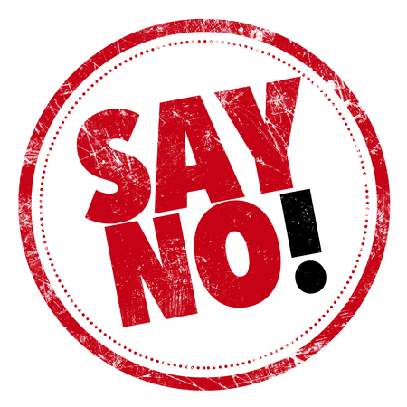 Grunge rubber stamp with text - Say No! 版權商用圖片