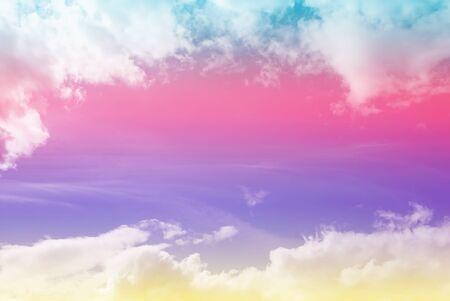 cloud background, pastel gradient colors Imagens