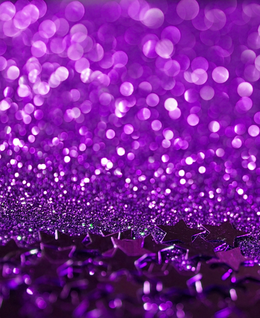 purple stars: purple stars glitter abstract twinkled bright background