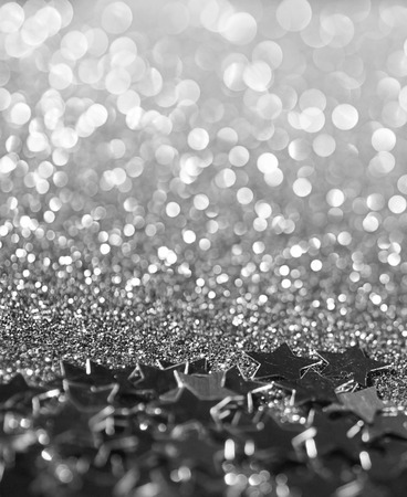 silver stars: silver stars glitter abstract twinkled bright background