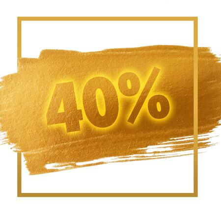 40: 40% OFF sign