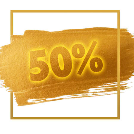 50  off: 50% OFF sign