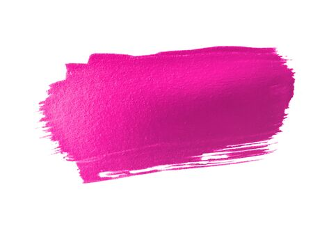 stain: hot pink paint smear stroke stain on white background