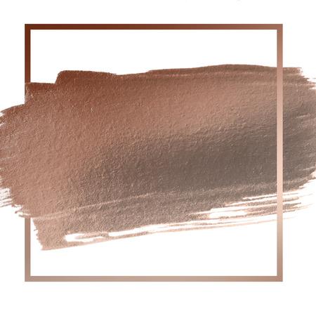 copper: subió espacio accidente cerebrovascular acrílico de oro para el texto o la cita Foto de archivo