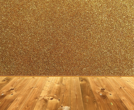 Wooden Style Floor Stage And Glitter Wall For Display Of Product