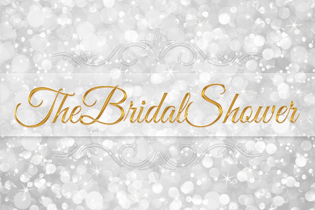 the bridal shower word on white silver glitter bokeh abstract background Stock Photo - 60470712