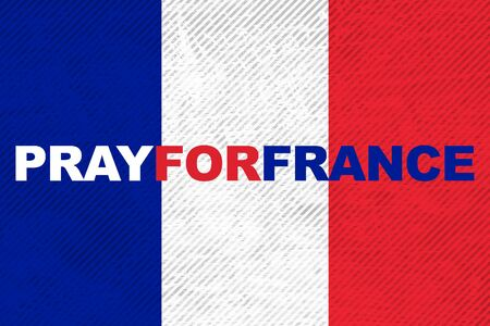 stronger: France national flag with word Pray for France