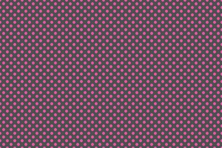repetition row: Small pink and grey polka dot background Stock Photo